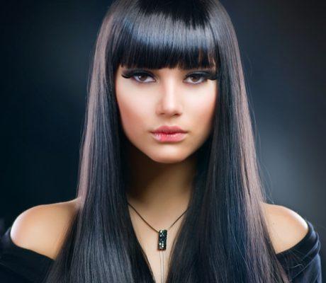 Lang zwart haar